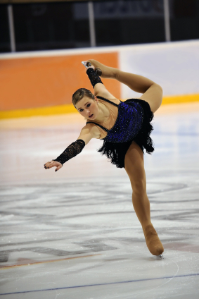 Ice Skater in a State of Flow.